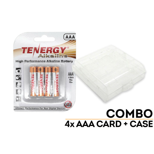 4-Pack Battery Case and Batteries: AAA
