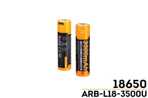 Fenix ARB-L18-3500U USB Rechargeable Li-ion 18650 Battery