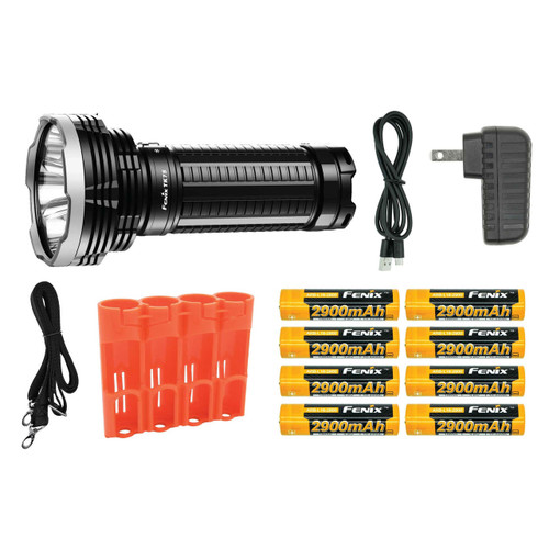 Fenix TK75 2018 LED Flashlight and Batteries Bundle