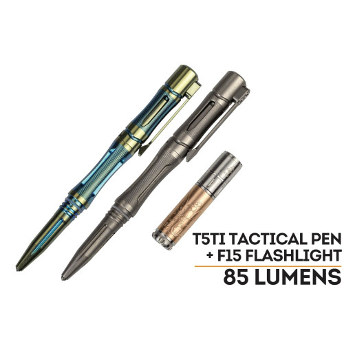 Fenix T5Ti Tactical Pen and Fenix F15 LED Flashlight Set