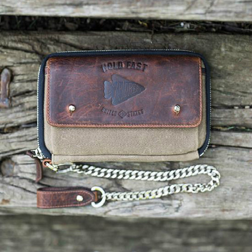 Holdfast Explorer Wallet - Waxed Canvas and Leather Travelers Wallet