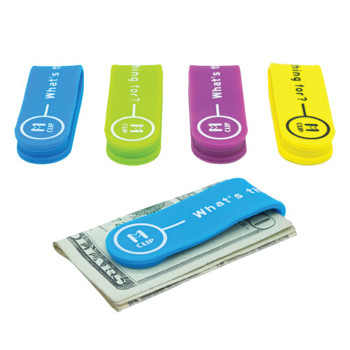 Rubber Multi-Functional Money Clip and Cable Organizer