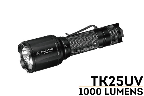 Fenix TK25UV LED flashlight with Ultraviolet Lighting