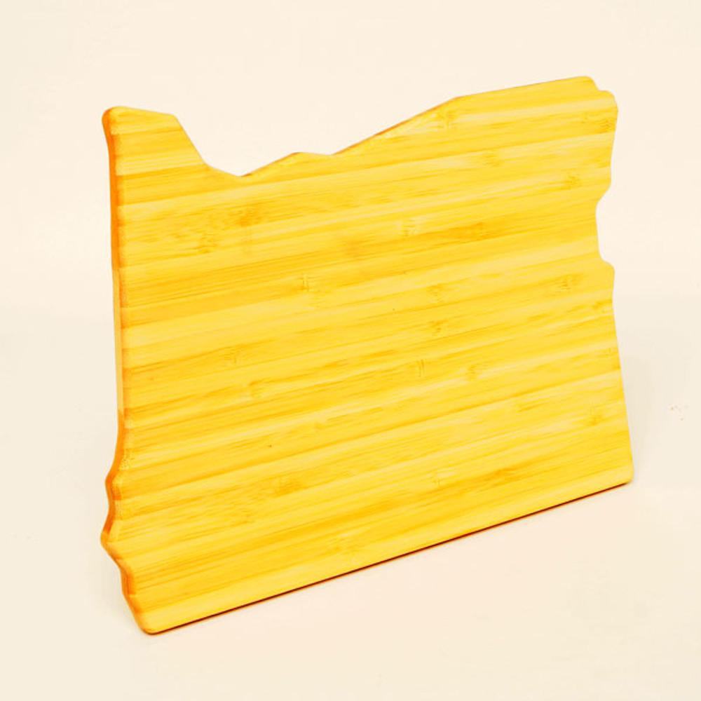 Oregon profile bamboo cutting board