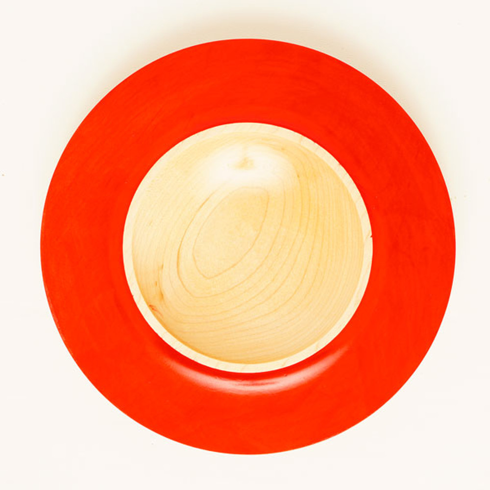 Maple Bowl with Red Rim