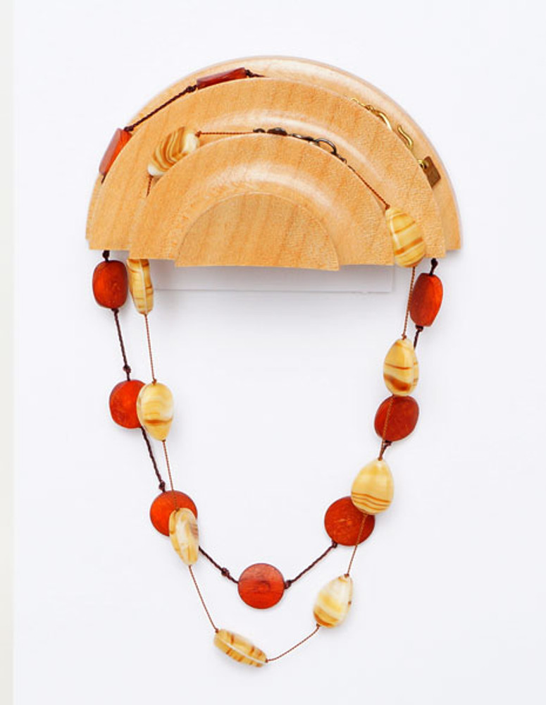 Maple necklace holder