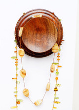 Black walnut necklace holder