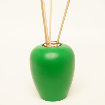 Oregon maple wood aromatherapy diffuser painted bright green