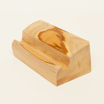 Tablet or phone stand in Pacific Madrone wood
