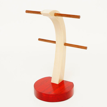 Red Tint Poplar Earring Stand
