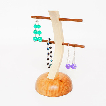 Figured Maple Earring Stand