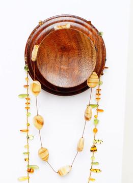 Black walnut necklace holder