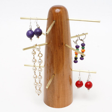 Jewelry display cone with brass rods
