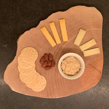 Natural edge maple serving platter