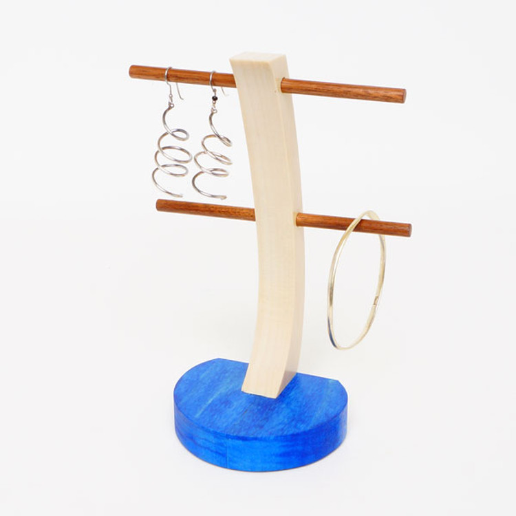 Blue tint earring stand
