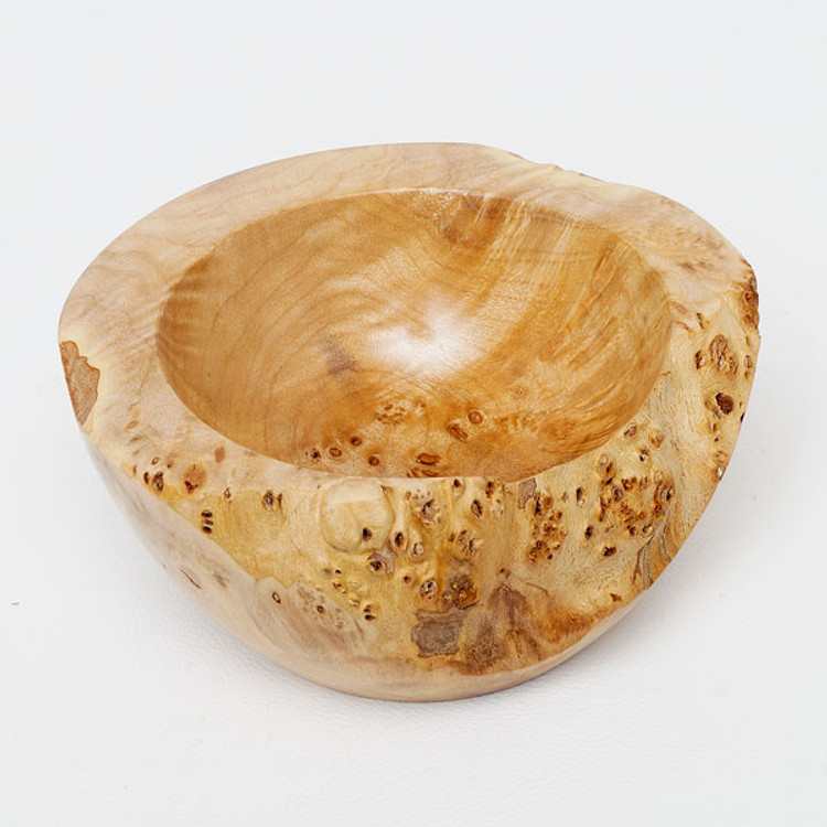 Small Oregon maple burl bowl with natural edge