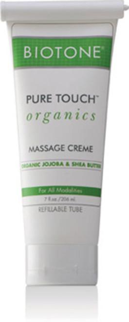 Biotone - Pure Touch Organics Massage Cream 7 oz. Refillable Tube