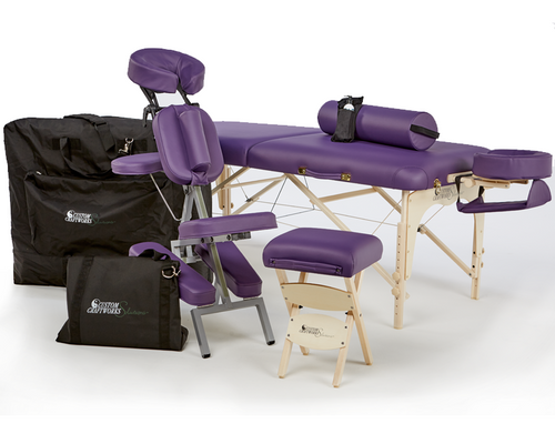 Custom Craftworks Heritage Massage Table & Chair Package