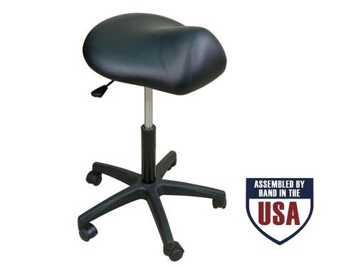 Oakworks Premium Stool with Saddle Seat