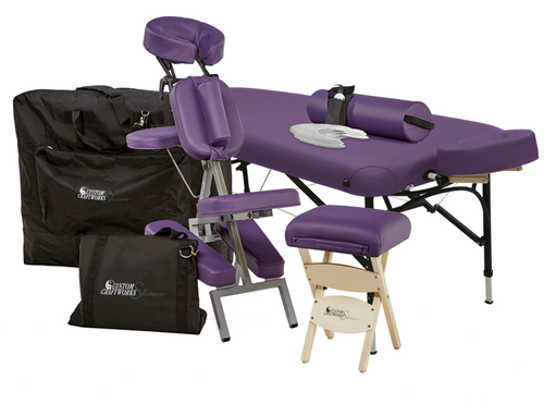 Custom Craftworks Challenger Aluminum Massage Table & Chair Package
