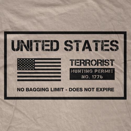 Terrorist Hunting Permit T-Shirt