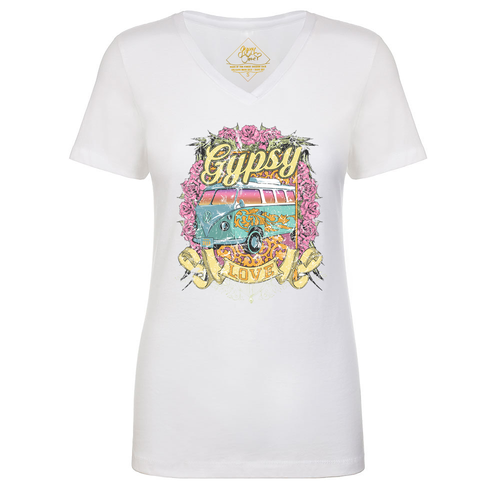 Gypsy Love Cali V-neck tee