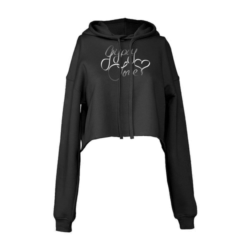 Gypsy Love Signature Line Logo Cropped Fleece Hoodie