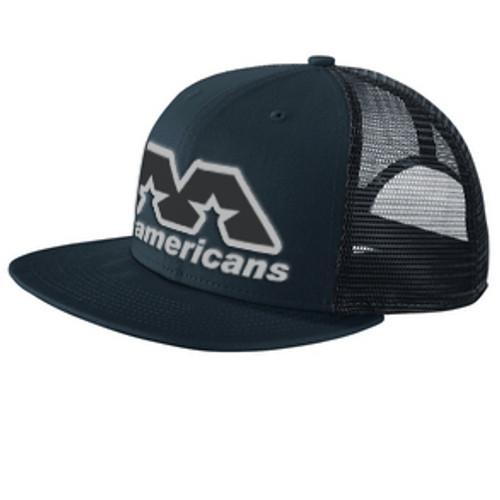 AA Flat-Brimmed Cap - Navy