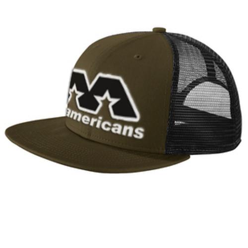 AA Flat-Brimmed Cap - Olive Green