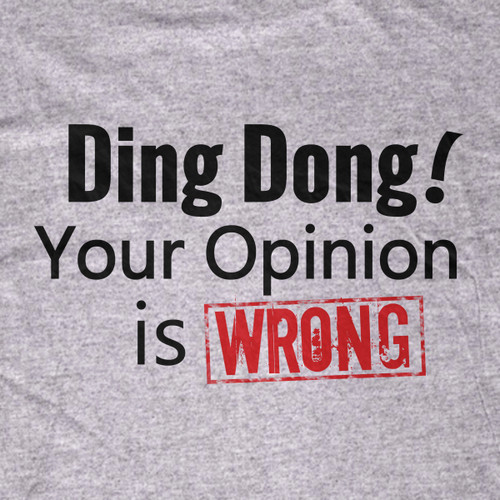 Ding Dong! Your Opinion is WRONG Tee-Shirt