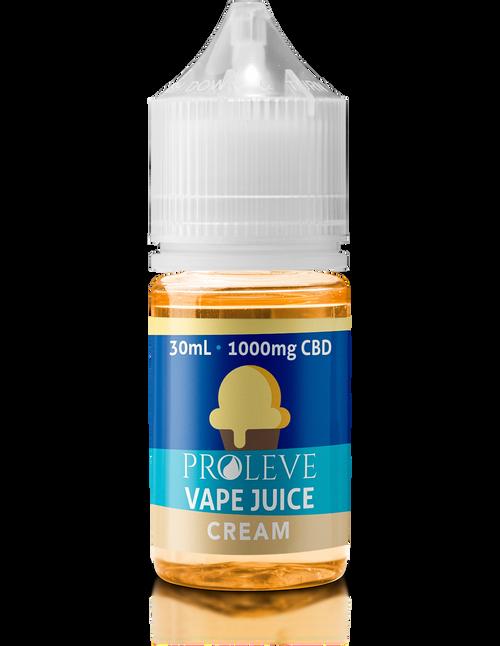 Proleve CBD Vape Juice - Cream - 1000MG