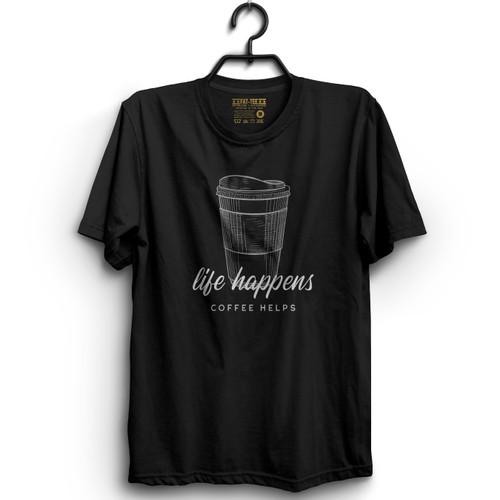 Life Happens, Coffee Helps T-Shirt