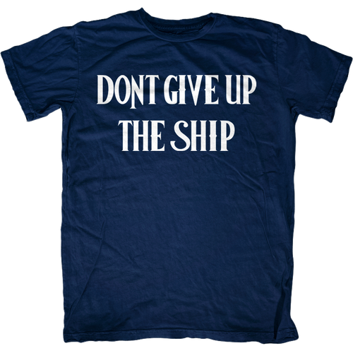Commodore Perry Dont Give up the Ship Flag T-Shirt