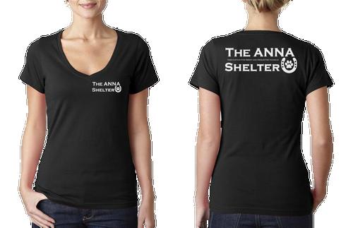 A.N.N.A. Shelter Womens V-Neck T-Shirt