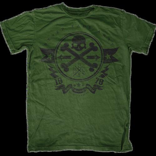 Never Fade Away Bad Bones Crew T-Shirt