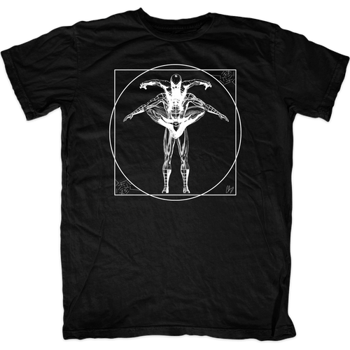 Vitruvian Spiderman T-Shirt