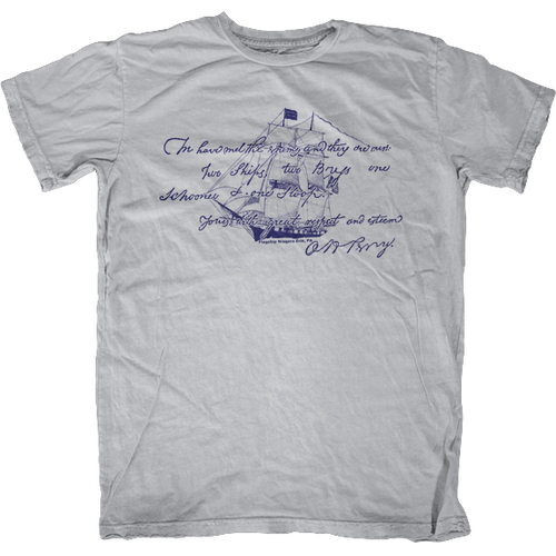 Commodore Perry After Battle Letter Ship T-Shirt