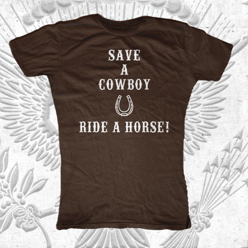Save a Cowboy Ride a Horse T-Shirt
