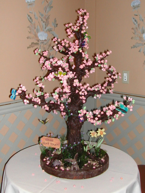 Spring Tree Chocolate Sculpture