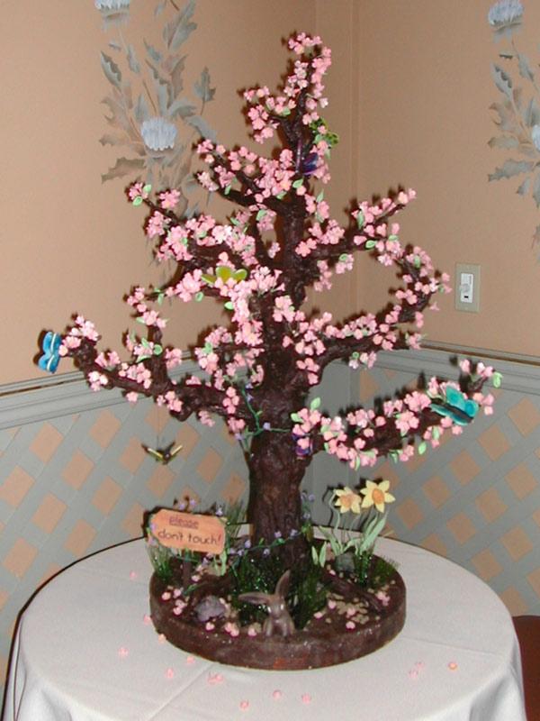 Spring Tree Chocolate Sculpture