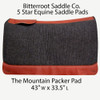 The Mountain Packer: 5 Star Saddle Pads