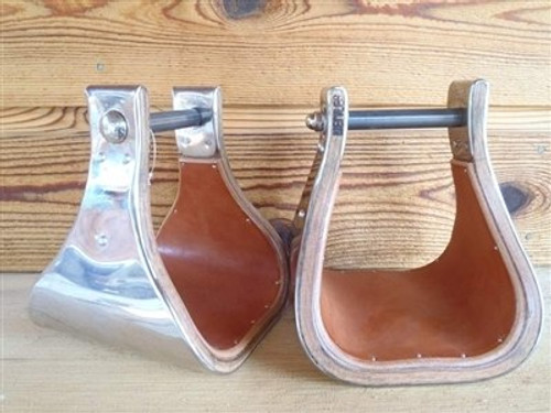Lined Monel Stirrups, 1 Pair