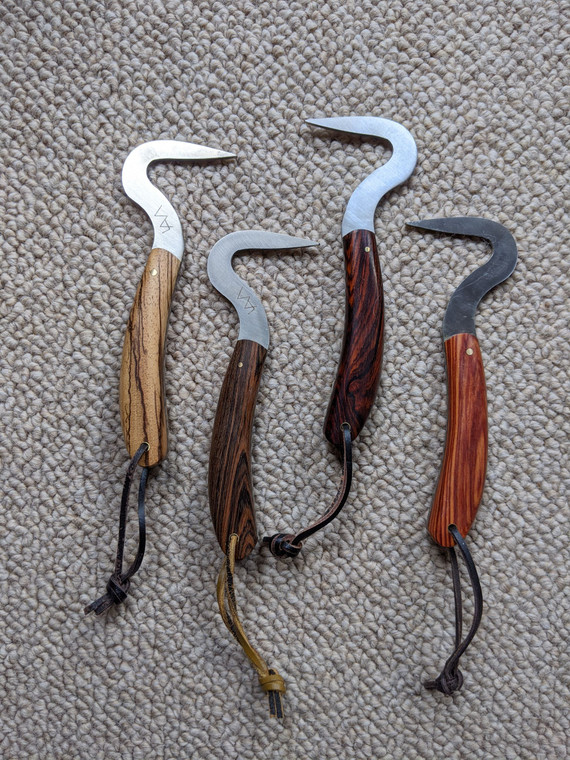 unique hand crafted wood handle hoof pick