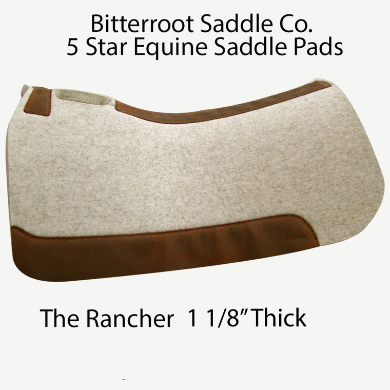 The Rancher saddle pad in 'natural' by 5 Star Equine
