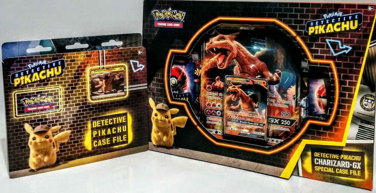Pokemon Tcg Detective Pikachu And Charizard Gx Case File Box