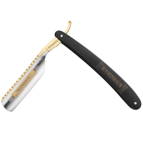 "6/8"" #2 Black Ebony Wood Handle Razor"