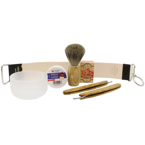 Straight Razor Travel Set - Charcoal Grey
