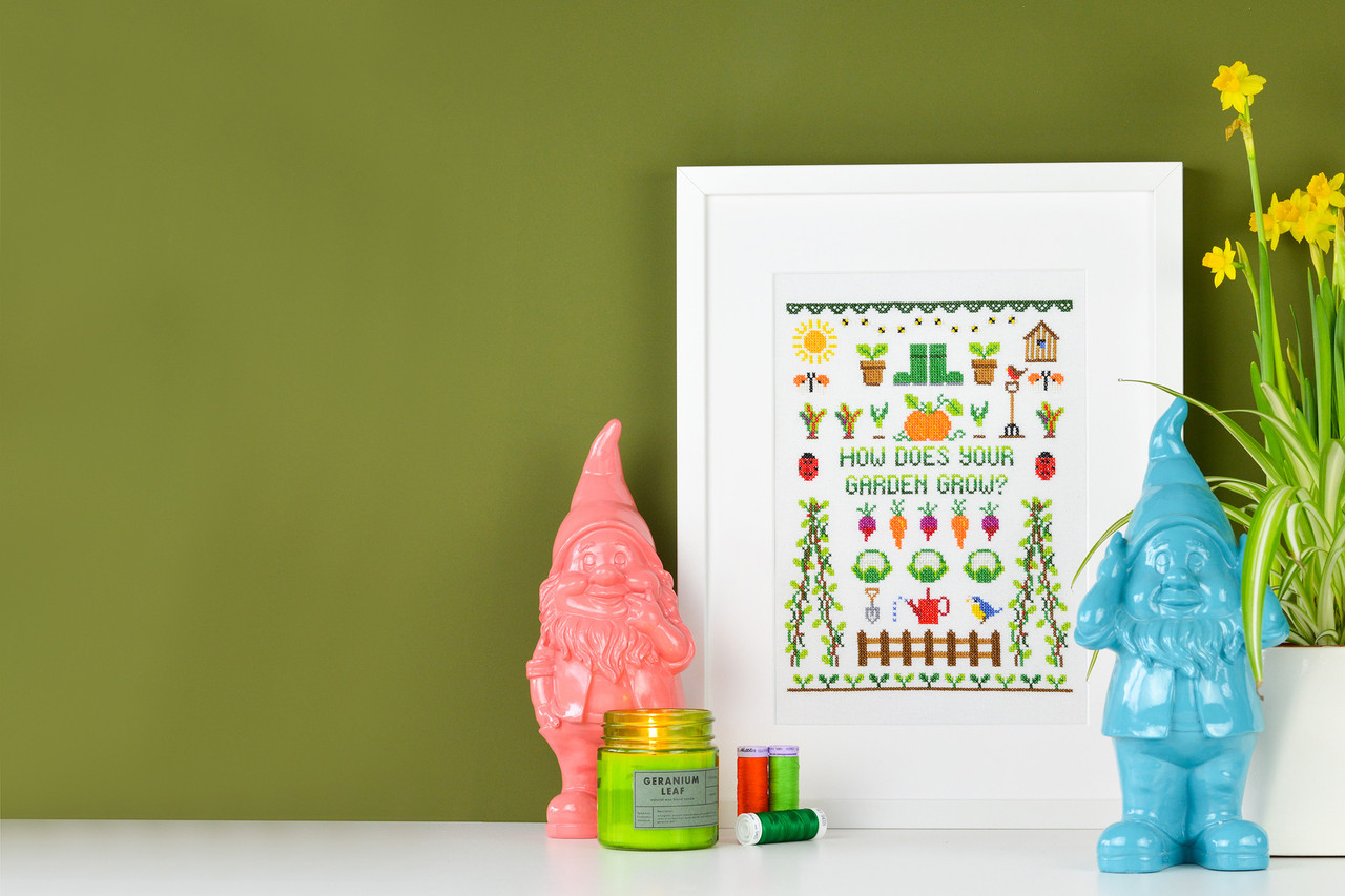 HOW DOES YOUR GARDEN GROW? Celebrate the start of spring with our fun sampler pattern.