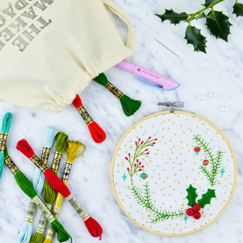 Holly Embroidery Kit