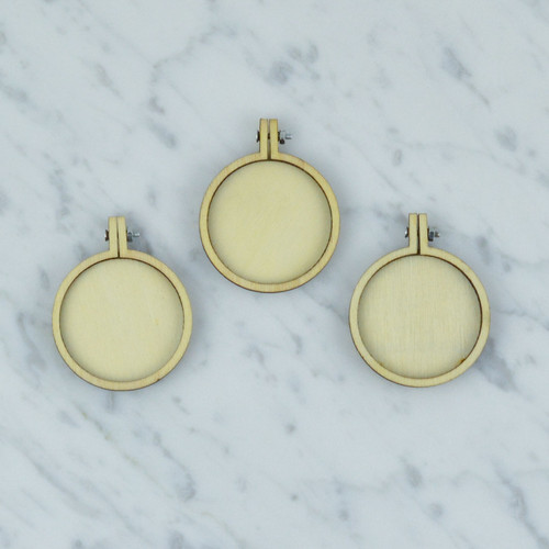 Mini round embroidery hoop frame